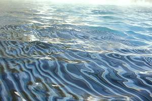 Unruhiges welliges Wasser