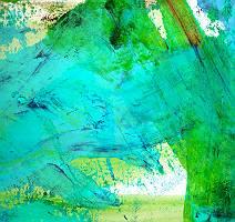 Abstrakter gemalter Fond in Grün und Türkis