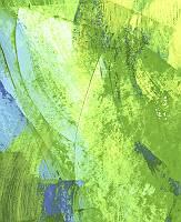 Abstrakter Fond gespachtelt in grün und einem hauch von Blau