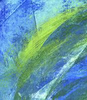 Abstrakter Fond gespachelt in Blau und grün