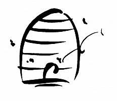Pinsel Zeichnung eines Bienenstocks