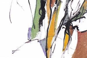 Abstrakte farbige Strichzeichnung