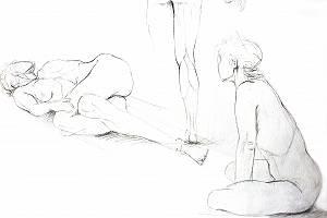 Aktzeichnung des weiblichen Körpers