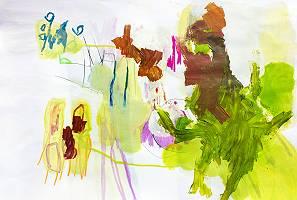 Abstraktes farbenfrohes Gemälde