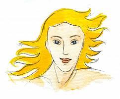 Frau mit orangenen Haaren
