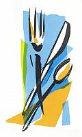 Abstrakte Illustration von Besteck