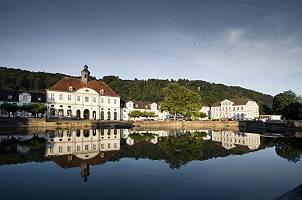 Die idyllische Stadt Bad Karlshafen in Hessen, Deutschland
