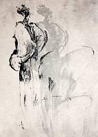 Zeichnung einer abstrahierten Person