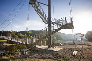 Aussichtsturm und Hängebrücke bei Legau an der Iller