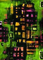 Kachelförmig abstrakter Fond gemalt