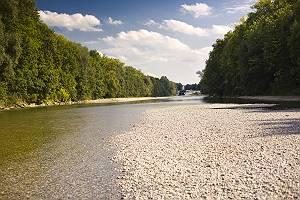 Fluss Lech bei Augsburg