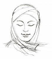 Bleistiftzeichnung einer Frau