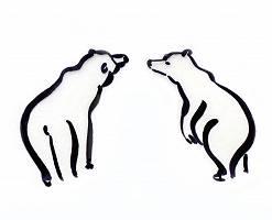 Zeichnung zweier Bären