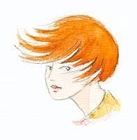 Aquarellbild einer rothaarigen Person