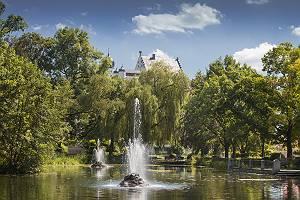 Stadtpark Illertissen unterhalb des Vöhlinschloss