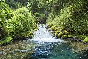 Bachlauf am Uracher Wasserfall