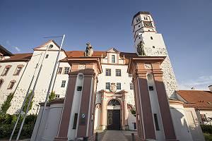 Dillinger Schloss aus der Froschperspektive