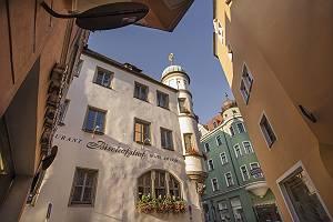 Regensburg Bischofshof Hotel am Dom, mit Blick nach oben