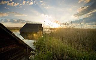 Fischerhütten am Federsee