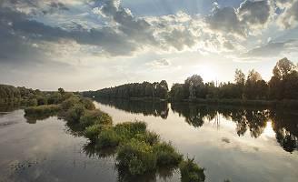 Donaulauf im Abendlicht