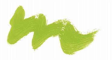 Grüne Welle auf Weiß