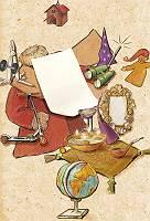 Illustrierter Weihnachtswunschzettel