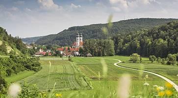 Ausblick auf Zwiefalten, Baden-Württemberg