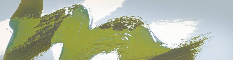 Grüne Welle auf weißer Welle