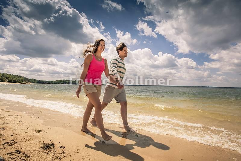 Spaziergang am Sandstrand