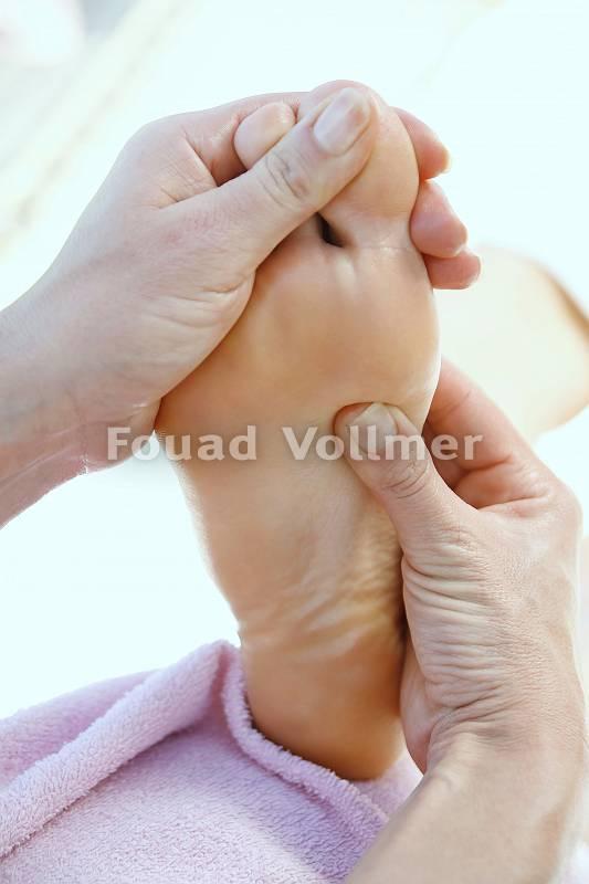 Angenehme Fußreflexzonenmassage