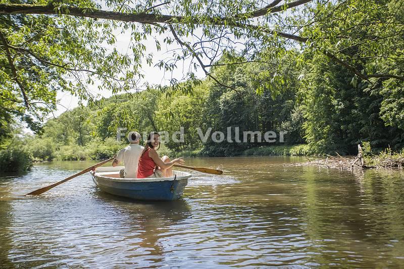 Ruderbootfahrt auf der Lausitzer Neiße